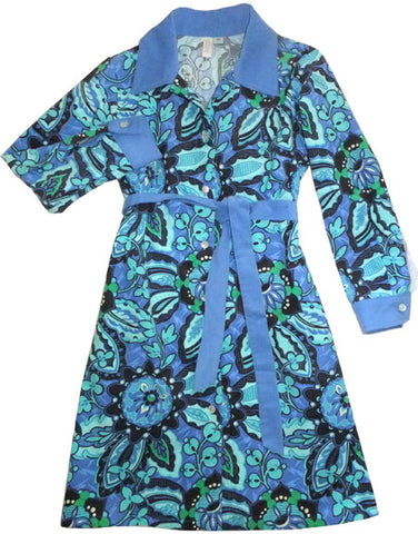 Corduroy Shirtdress - Indigo (girls' AND women's sizes)