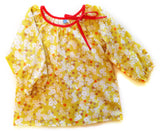 Slip-on cotton blouse - Tiny Flowers