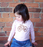 Bicycle tee (soft pink)