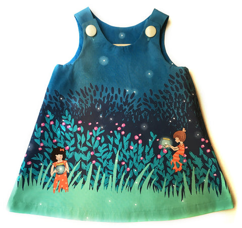 Caterpillar Dress - Fireflies