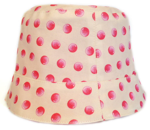Reversible Summer Hat - Pink Dots