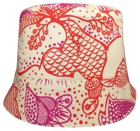 Reversible Summer Hat - Pink Thistle