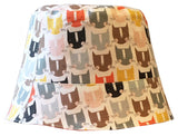 Reversible Summer Hat - Mod Cats