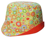 girls reversible summer hat in sunshine yellow by Red Thread Design
