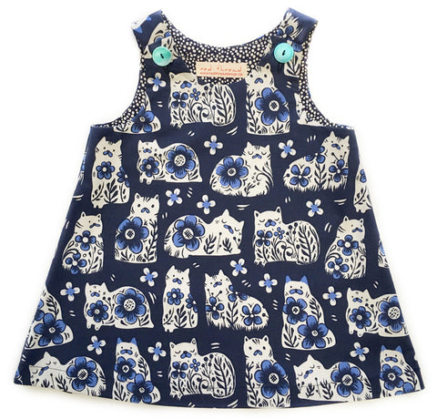 Indigo Cats caterpillar dress for girls from 12 months to 3 years, handmade in Canada
