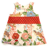 photo of the Peach Forest Caterpillar Dress for ages 1-3 years