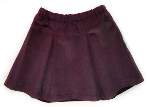 Corduroy Pleated Skirt - Chocolate Brown
