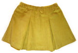 Corduroy Pleated Skirt - Butterscotch