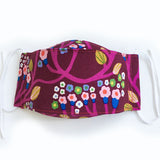 Fabric Mask: Purple Forest (child and adult sizes)
