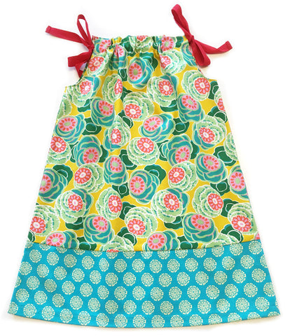 girls ribbon sundress converts from a dress to a top