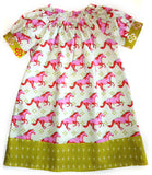 The Flora Dress - Pink Horses