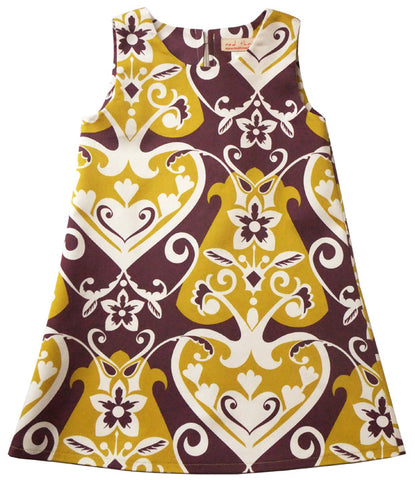 A-line girls' dress by Red Thread in eggplant