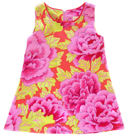 A is for A-Line Dress - Peonies
