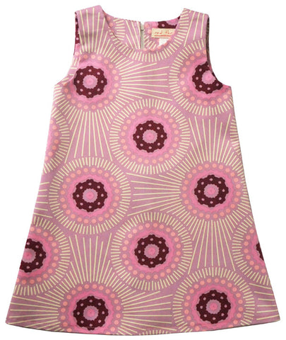 A-line girls' dress by Red Thread in Rose