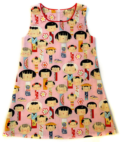 A is for A-Line Dress - Kokeshi Dolls