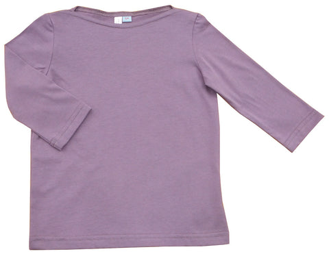 Organic Cotton Top - dusty purple (size 10 only)