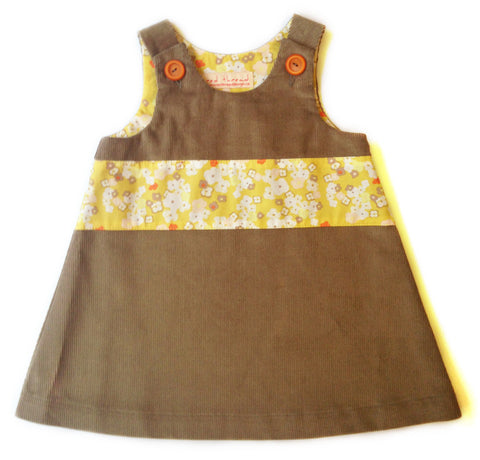 Caterpillar Dress - Chestnut