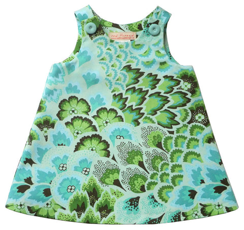 Caterpillar Dress - Aqua