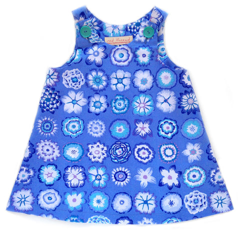 Caterpillar Dress - Button Flowers