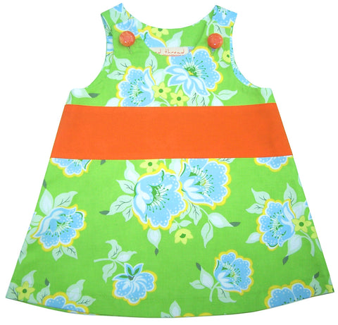 caterpillar dress by Red Thread in Apple fits from age 1-4