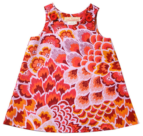 Caterpillar Dress - Flame