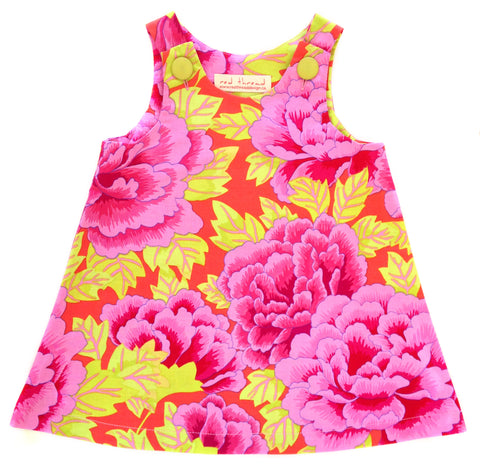 Caterpillar Dress - Peonies