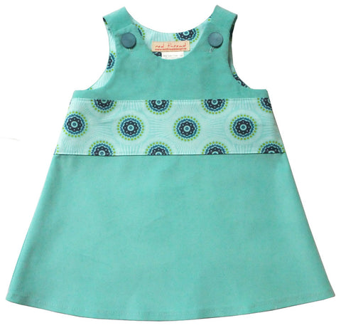 Caterpillar Dress_Turquoise