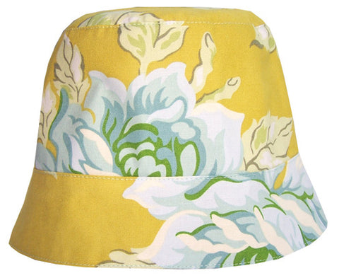 Girls' reversible summer hat in honey by Red Thread Design