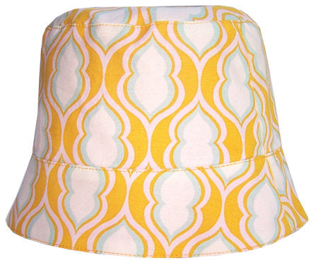 Girls' reversible summer hat in tangerine by Red Thread Design