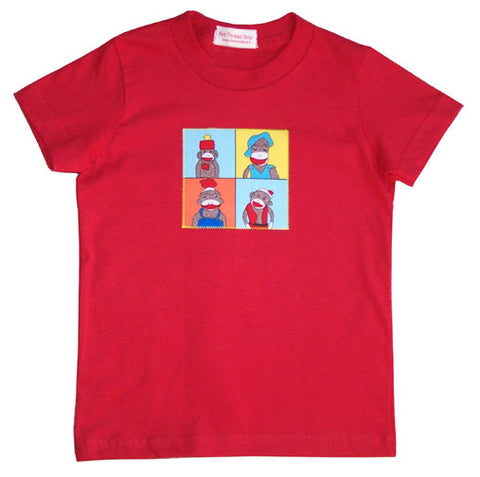 Funny Monkeys tee - red