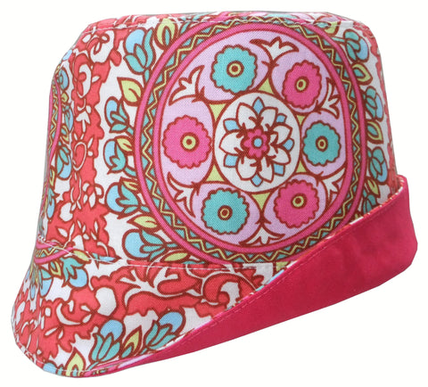 Reversible Summer Hat - Jewel Medallions