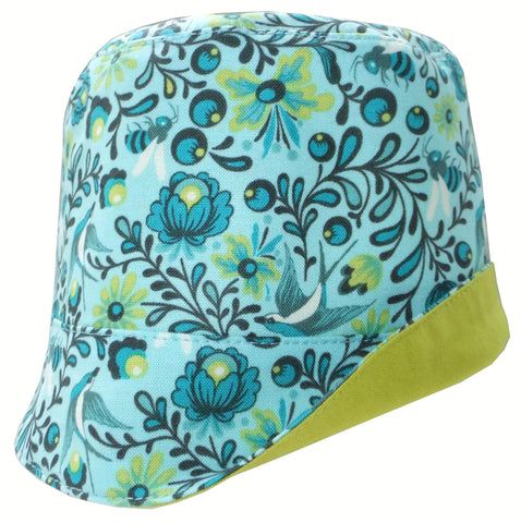 Reversible Summer Hat - the birds and the bees