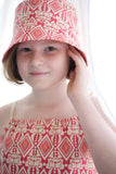 Reversible Summer Hat - Pomegranate