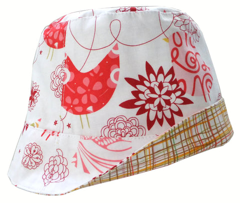 Reversible Summer Hat - Songbirds