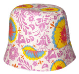 girls reversible summer hat in sunshine by Red Thread Design