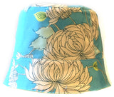 Reversible Summer Hat - White Chrysanthemums