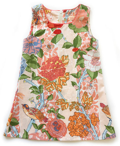 A is for A-Line Dress - Peach Forest