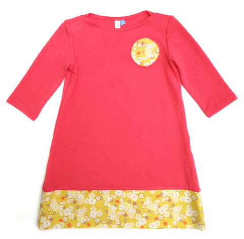 Bamboo Play Dress - coral (size 12 only)