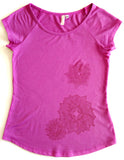 The Bamboo Izzy Tee - Rose