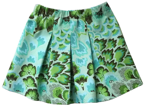 Pleated Skirt - Aqua