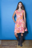 The Vintage Flare Dress - Flame