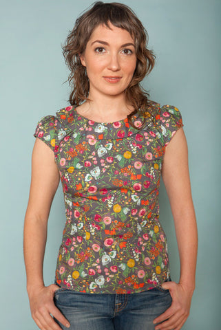 The Audrey Blouse has a flattering fitted cut with retro styling, and is ethically made in Canada