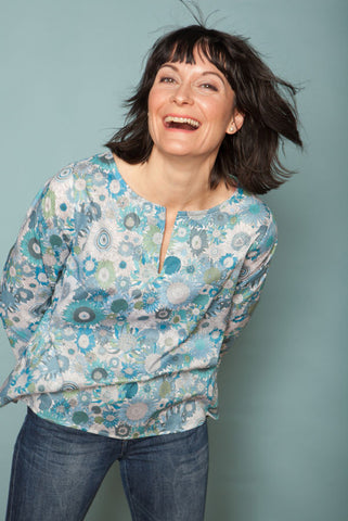 The Liberty Blouse - Blue Susanna