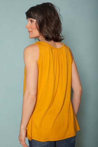 The Bamboo Breeze Top - Mustard
