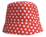Retro Dots Reversible Summer Hat