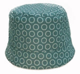 reversible summer hat with denim blue dots from Red Thread Design