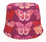 purple butterfly girls' summer hat by Red Thread