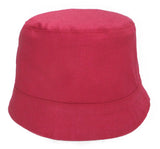 solid pink reversible girls' summer hat by Red Thread