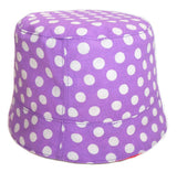 purple polka dot reversible summer hat by Red Thread Design