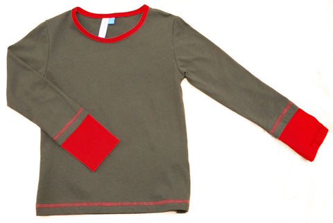 Boys' organic cotton two-tone top by Red Thread